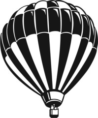 Hot Air Balloon Vinyl Ready Vector Illustration