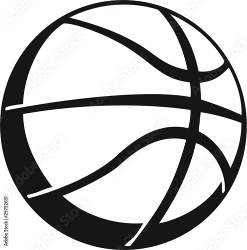 Basketball Vinyl Ready Vector Illustration
