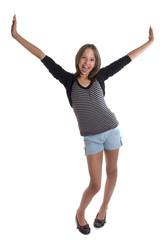 jeune adolescente contente - expression