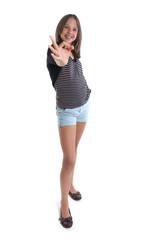jeune adolescente contente et déterminée - expression