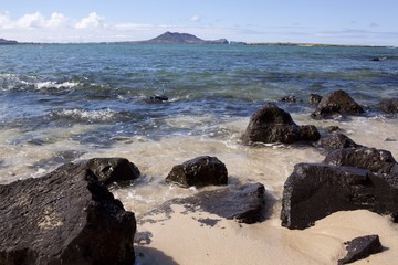 lava rocks and sea in Hawaii