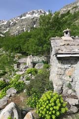 Bergeries de Traggelte, pastoral shelters, GR20 route, Corse