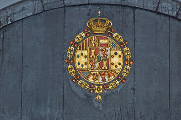 Motif on Sherry Barrel