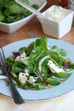 Leaf salad with peas and ricotta