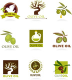 Fototapety Olive icons and logos