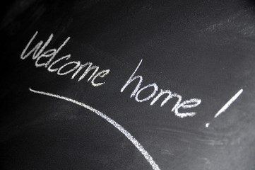 Chalkboard welcome home