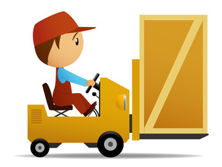 Loader with box