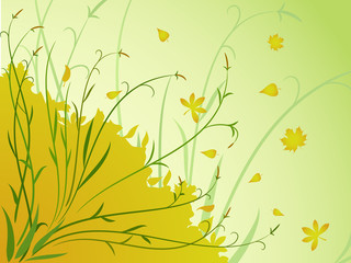 Floral autumn background