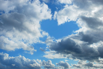 cloudy sky with heart shape
