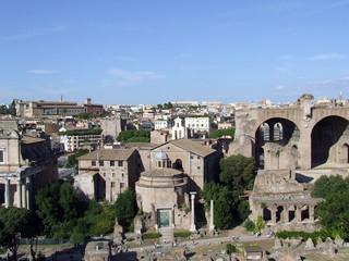 Casa di Romolo e Basilica di Massenzio dall'alto