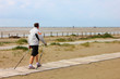 nordic walking am strand, st.peter-ording