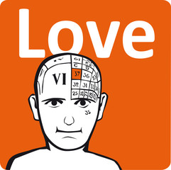 A psychology model - the love section of the brain