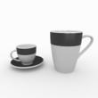 3d blank mugs