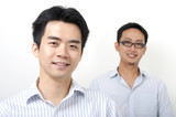 Two Asian young executives