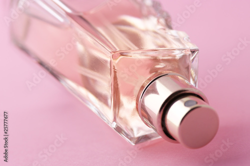 Bottle of perfume close-up