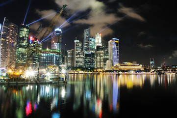 Marina Bay night scene