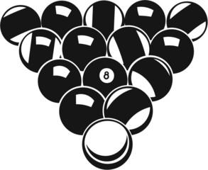 Pool Balls Vinyl Ready Vector Illustration