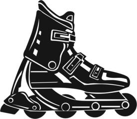 Roller Blade Vinyl Ready Vector Illustration