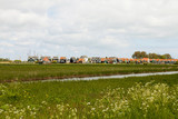 Typical Dutch houses in Marken