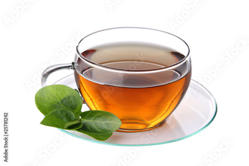 Cup of tea, isolated on a white background.