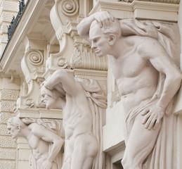 Three-men statue, Brno, CZ