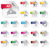 Set of icons for file extensions #2
