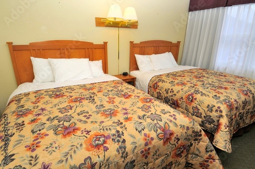 Twin beds in luxurious room