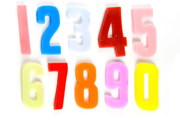 numbers made of soap