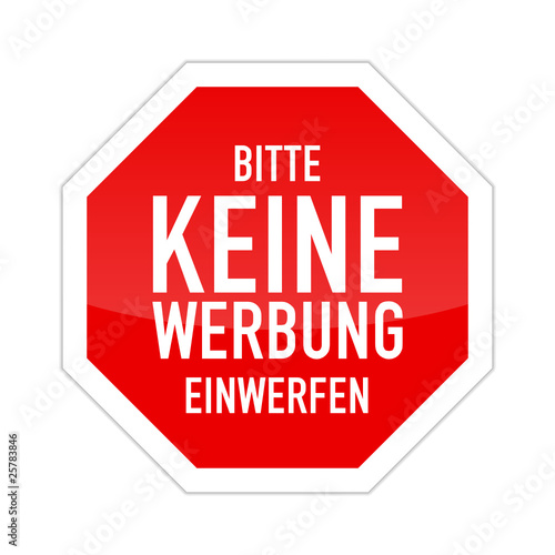 stop schild bitte keine werbung einwerfen i stockfotos. Black Bedroom Furniture Sets. Home Design Ideas