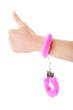 Pink handcuff