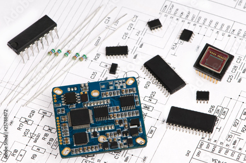micro electronics element and layout - 25788472
