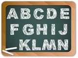 Fototapety Chalk Alphabet on Blackboard