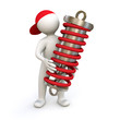 3D Man with shock absorber