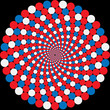 rotating balls. optical illusion