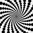 rotating balls. optical illusion