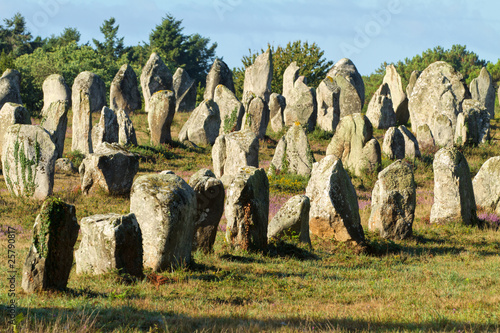 carnac monoliths in brittany, france