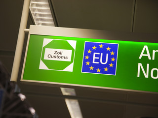 European Union customs sign