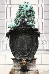 bronze lion at Residenz Munich