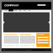 Clean editable vector web site design template