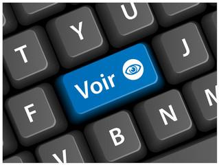 Touche VOIR sur Clavier (actualités infos en direct voir bouton)
