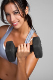 Woman Lifting Weights - 25793863