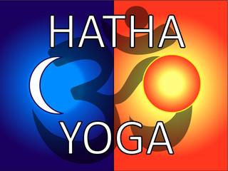 hatha yoga vector