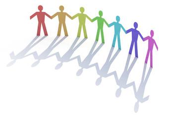 gruppo persone arcobaleno