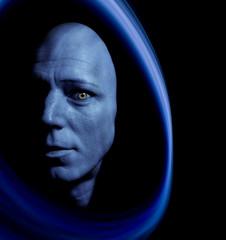 blaues Portrait eines Magiers2