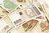 Latvian State five hundred lats banknotes and twenty lats bankno