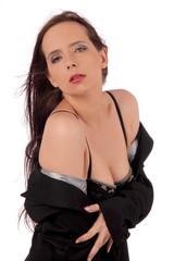 femme en déshabillé noir 2