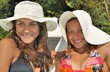 Jeunes filles en vacances