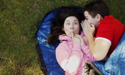Couple Telling A Secret