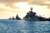 Fototapety Row of military ships