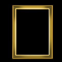 Golden frame for pictures